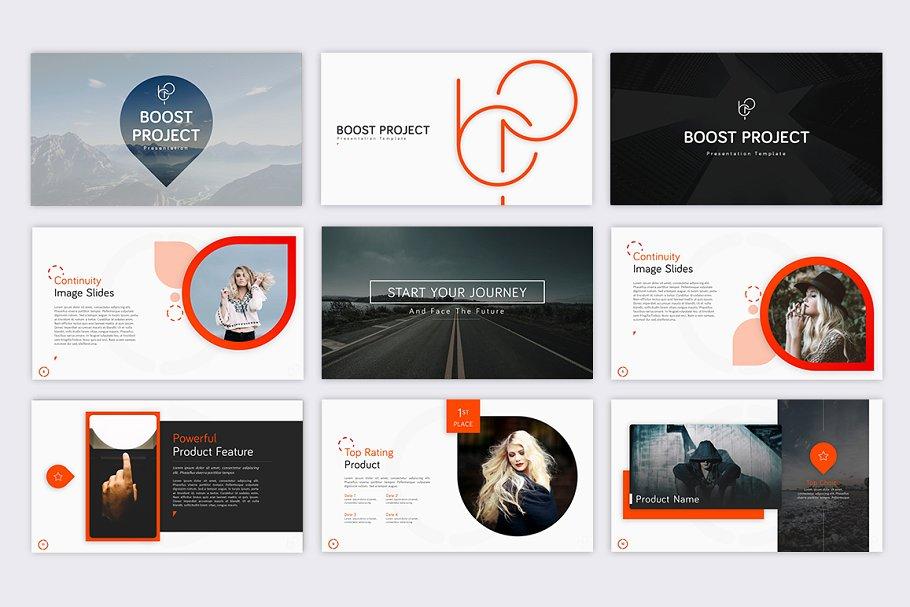 Boost Project – Neon Concept Presentation Template