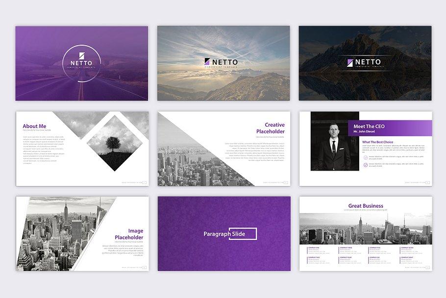 Netto – Company Presentation Template