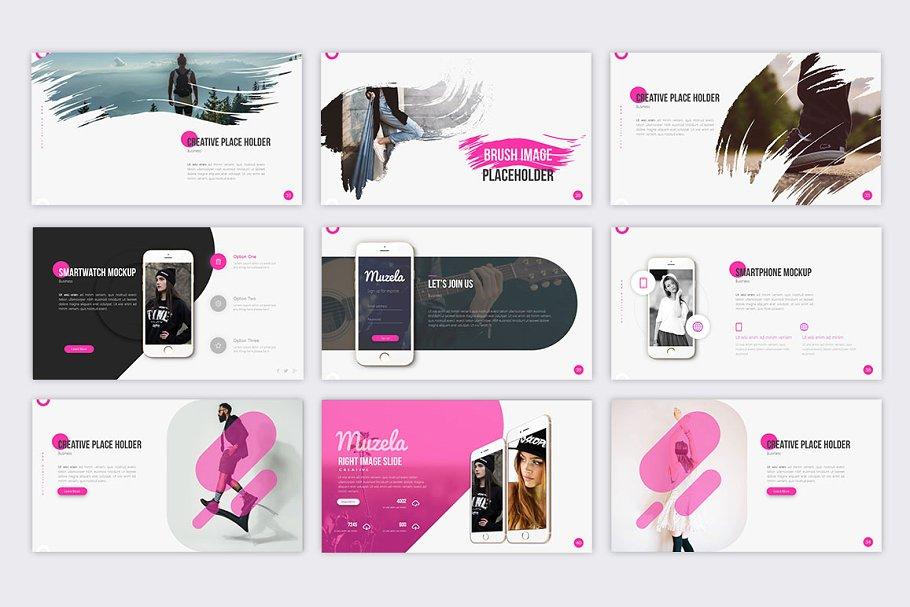 Muzella Fashion PowerPoint Template