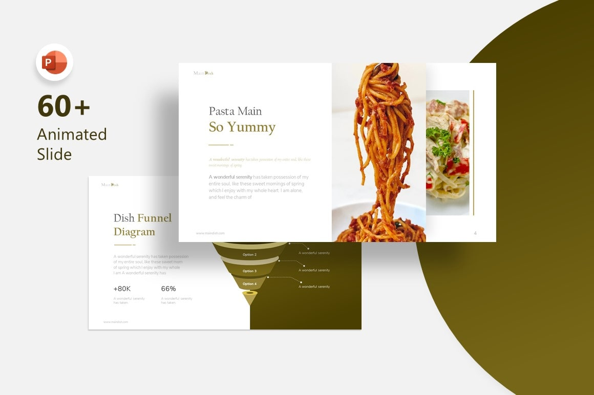 Maindish Restaurant PowerPoint Template