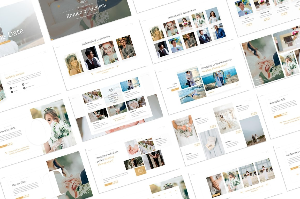 Endless Wedding PowerPoint Template