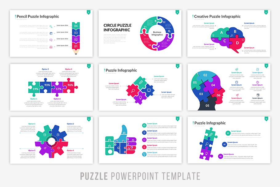 Puzzling Infographic PowerPoint Template