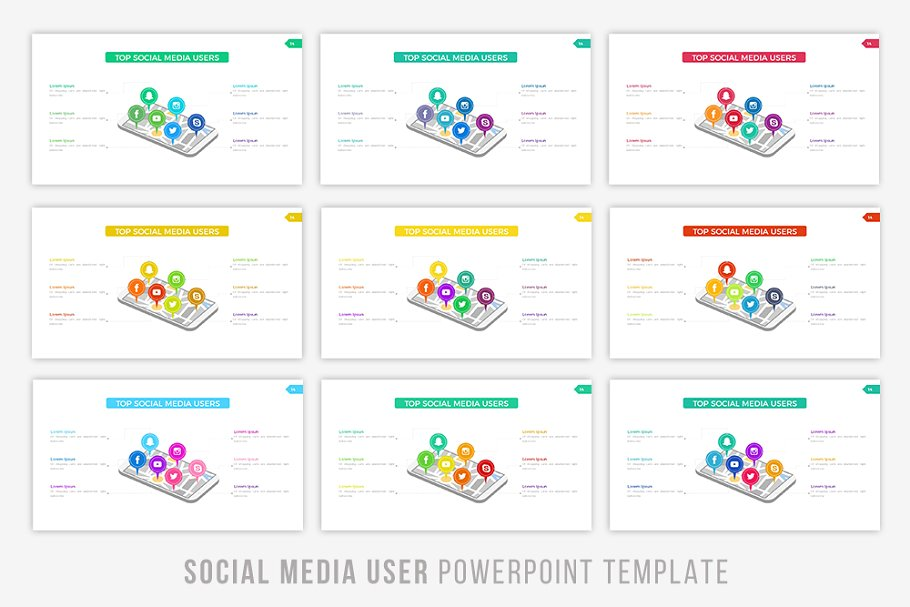 User Infographic PowerPoint Template