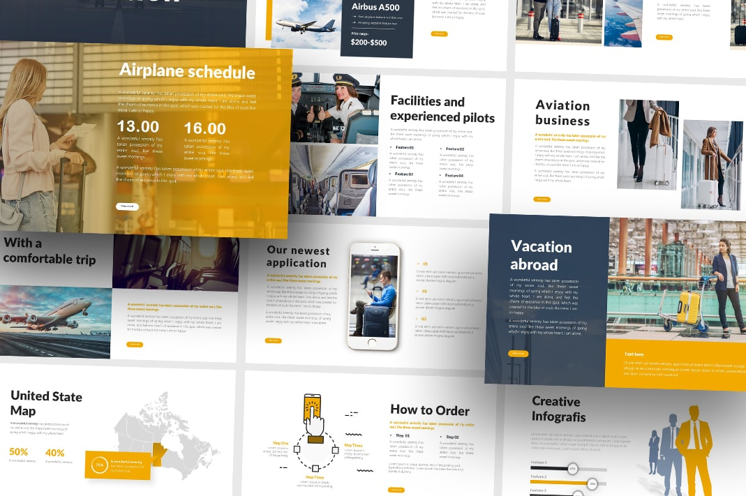 Free Aviation Business PowerPoint
