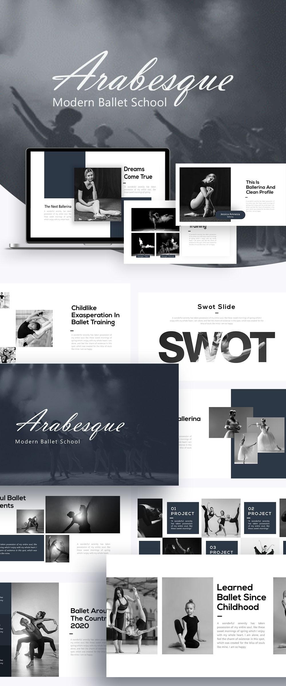 Free Arabesque Ballet PowerPoint