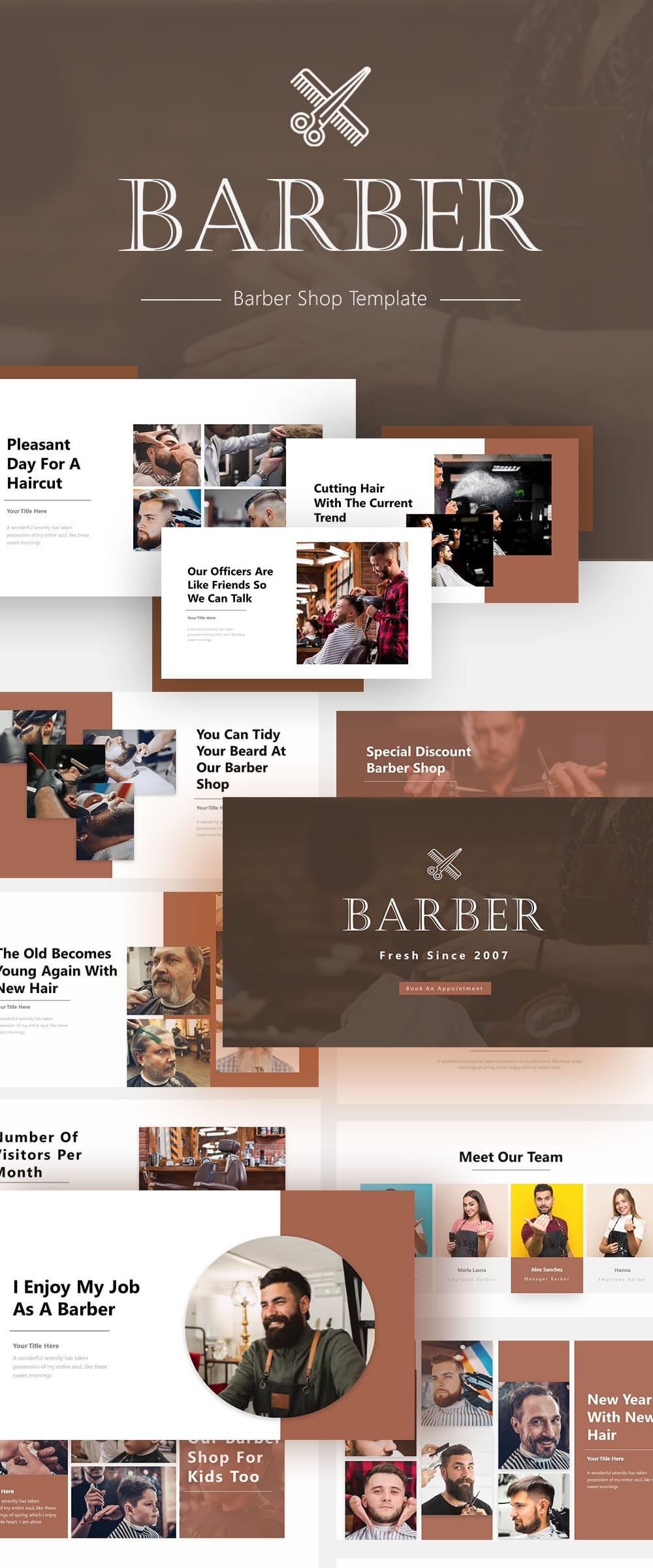 Free Barber Business PowerPoint
