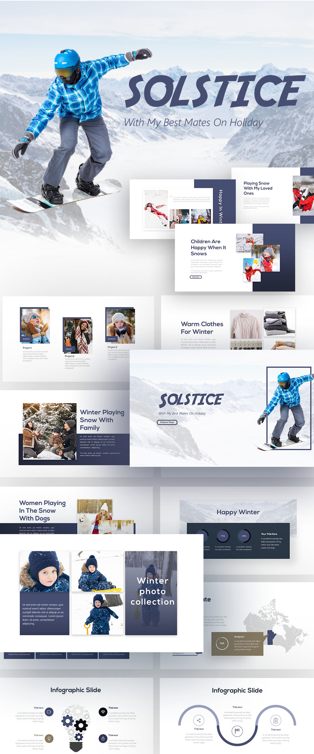 Free Winter Clothing PowerPoint