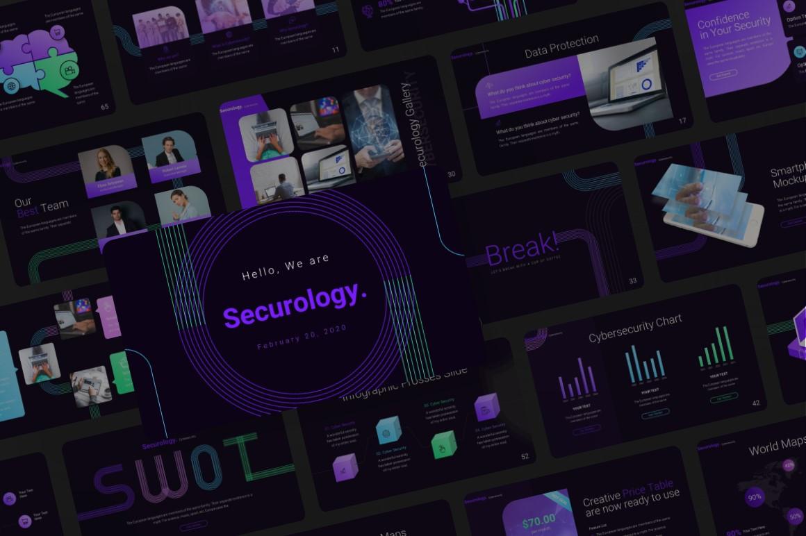 Cybersecurity Tech PowerPoint Template