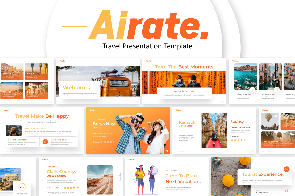Airate Traveling PowerPoint Template