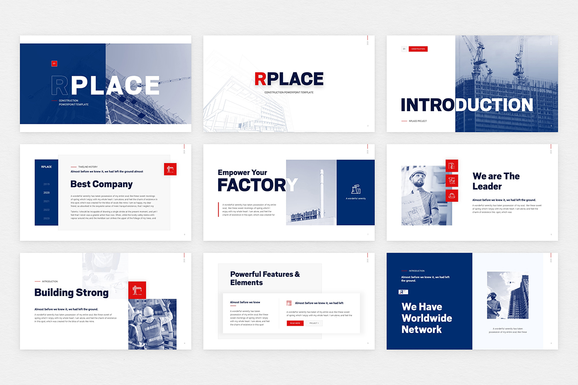 Rplace Construction PowerPoint Template