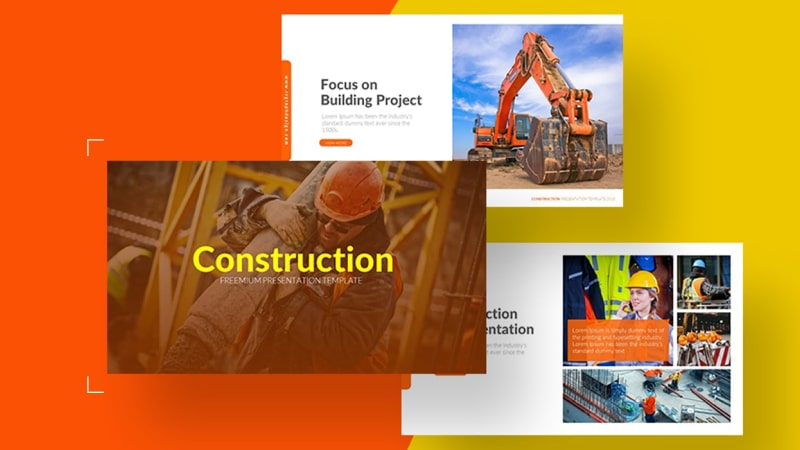 Construction Architecture PowerPoint Template