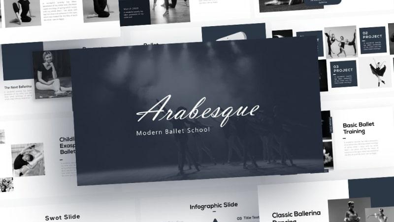 Free Arabesque Ballet PowerPoint Template