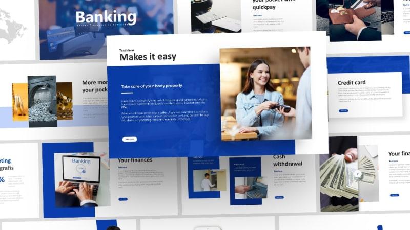 Free Banker Finance PowerPoint Template