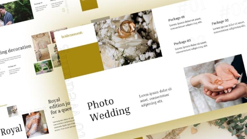 Free Bride Wedding PowerPoint Template