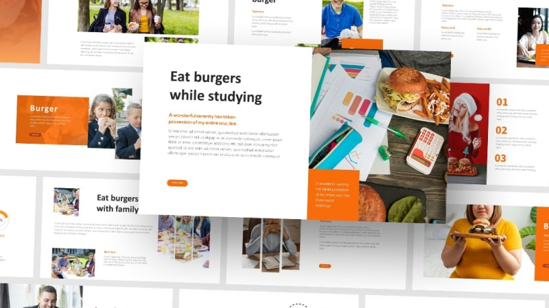 Free Burger Food PowerPoint Template