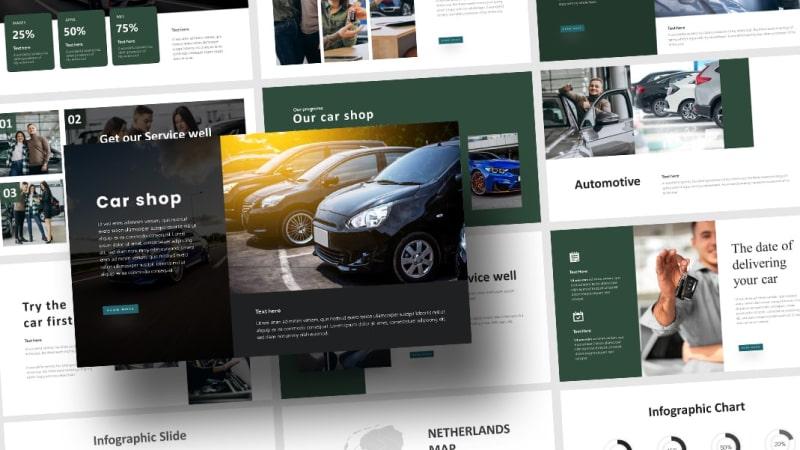 CarShop Automotive PowerPoint Template