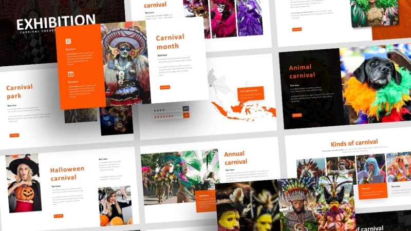 Free Exhibition Carnival PowerPoint Template