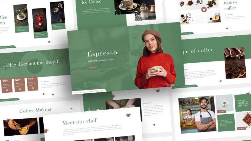 Free Espresso Beverage PowerPoint Template