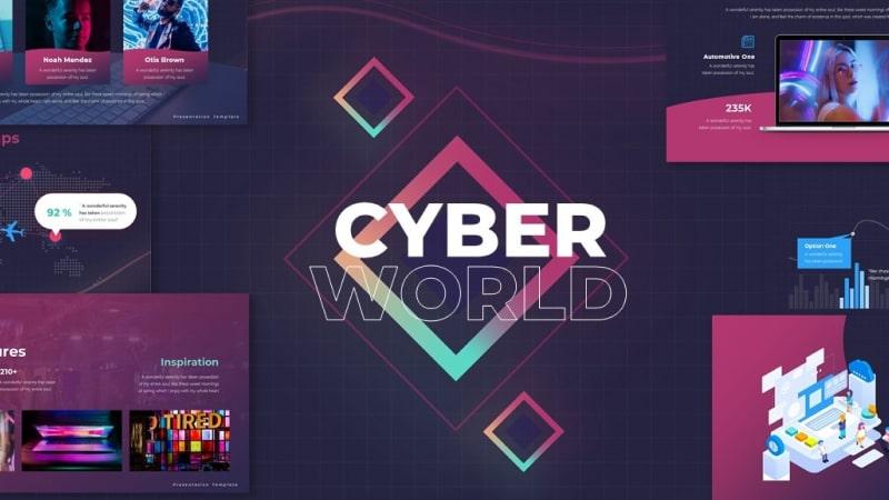 Cyber World PowerPoint Template