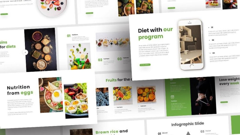 Free Nutrition Food PowerPoint Template