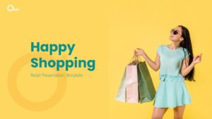 Free Happy Shopping PowerPoint Template