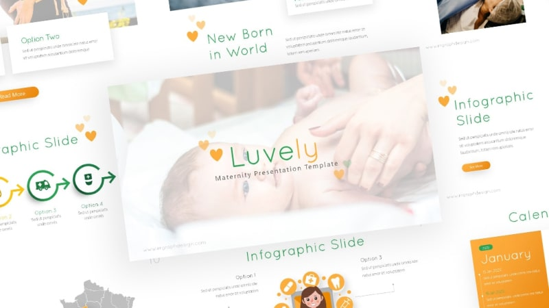 Free Luvely Maternity PowerPoint Template