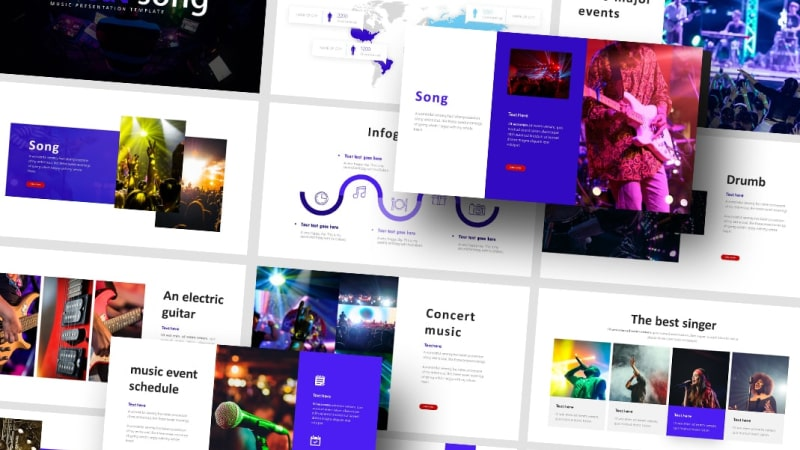 Free Music Event PowerPoint Template