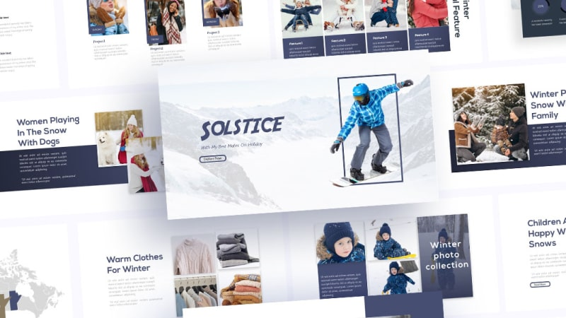Free Winter Clothing PowerPoint Template
