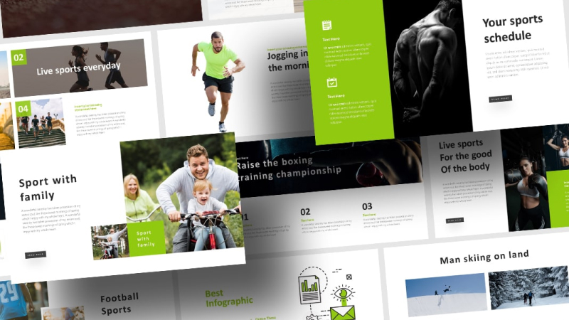 Free Action Sports PowerPoint Template