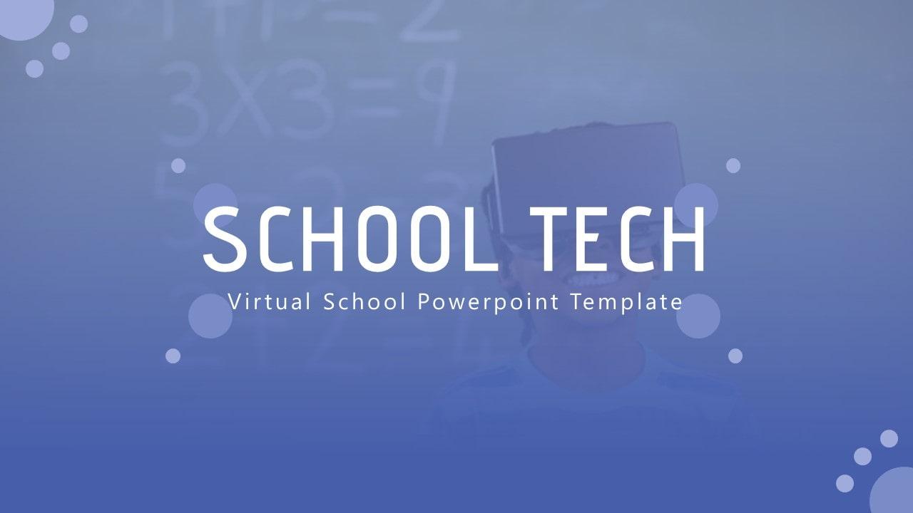 Free School Technology PowerPoint Template