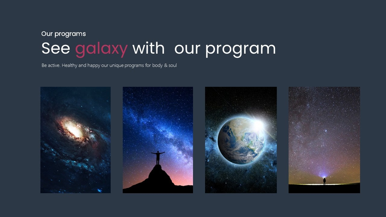 Galaxy Space PowerPoint Template