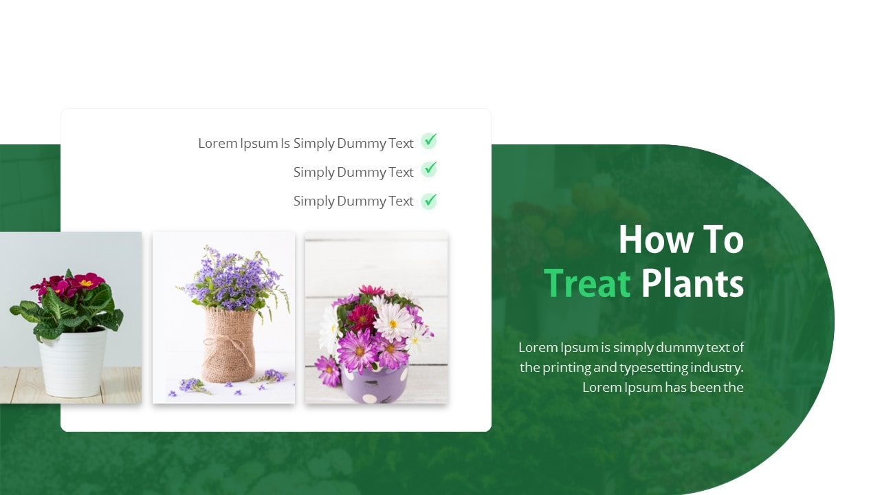 Free Fresh Nature PowerPoint Template