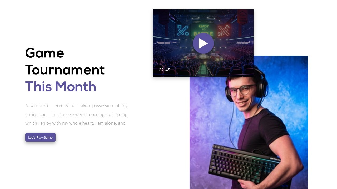 Joystick Technology PowerPoint Template