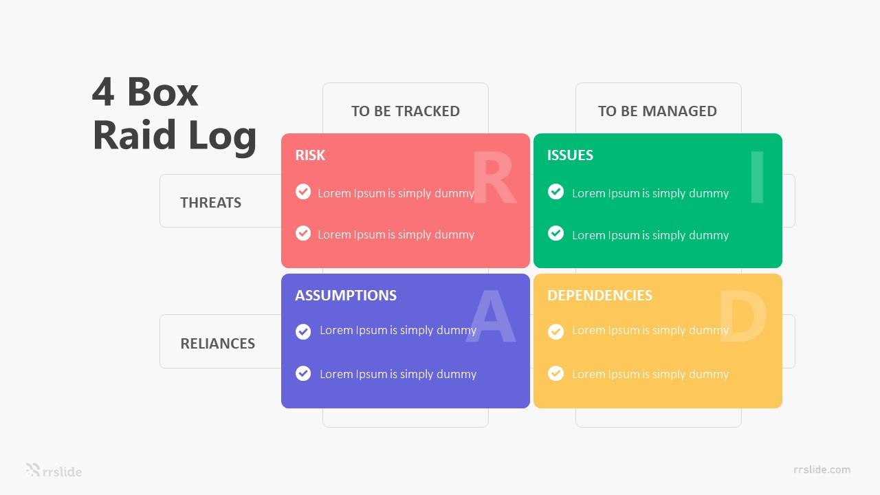 4 Box Raid Log Infographic Template