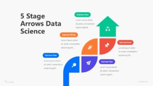 5 Stage Arrows Data Science Infographic Template