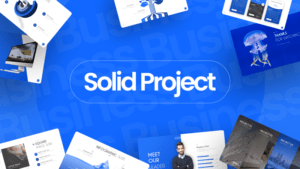 Solid Project Business PowerPoint Template