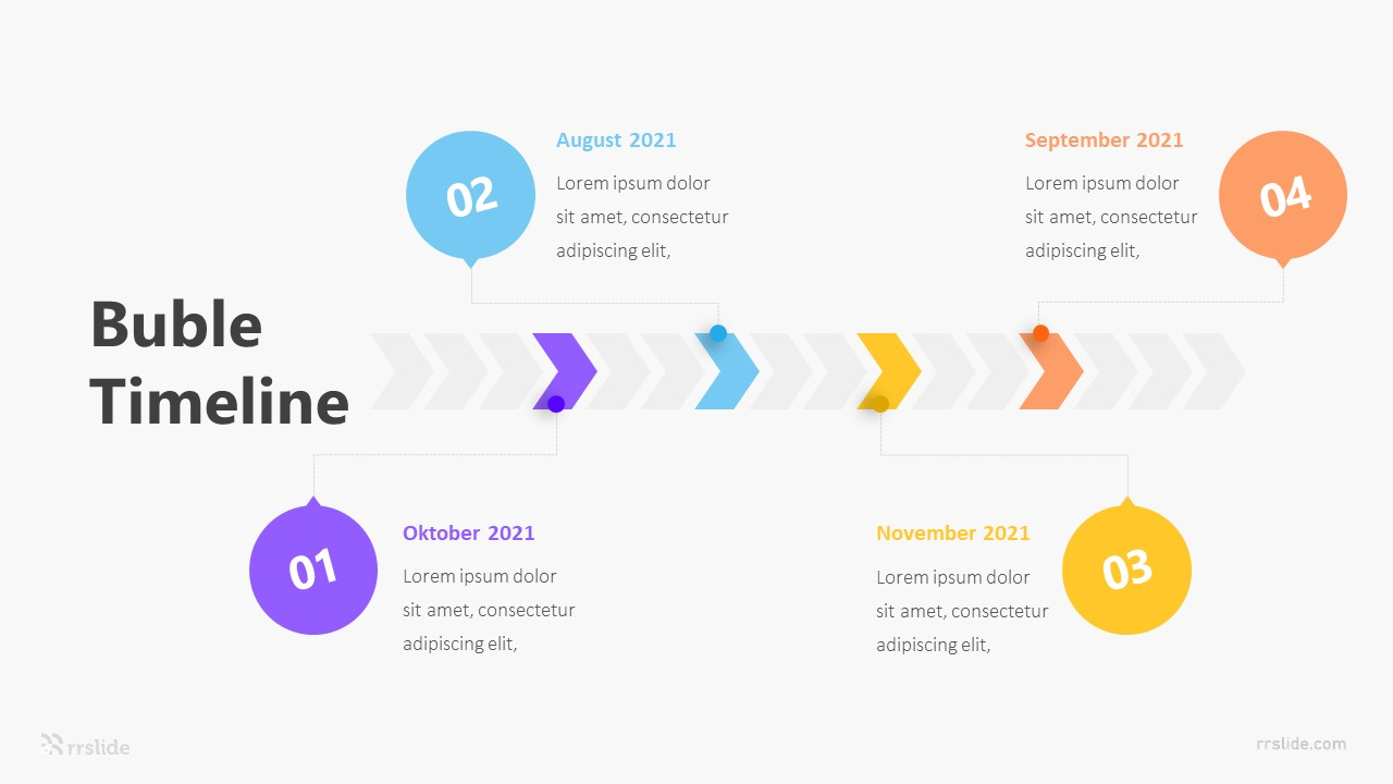 Horizontal Bubble Timeline Infographic Template