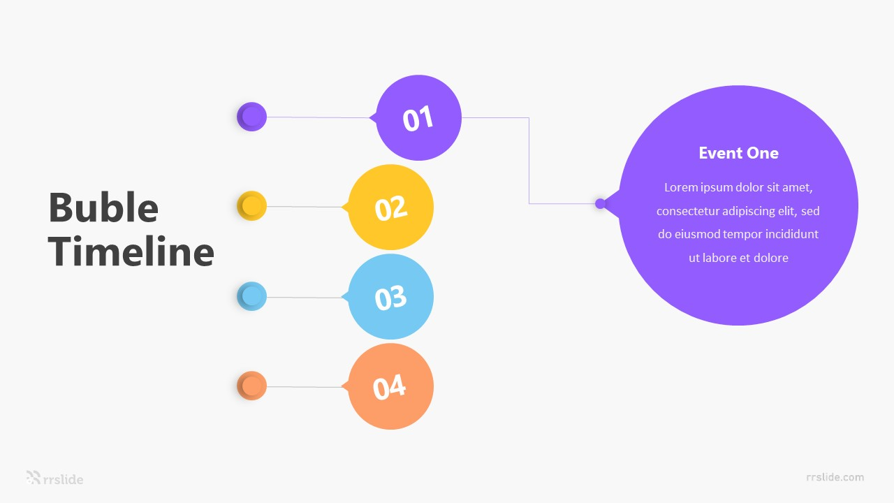 Vertical Bubble Timeline Infographic Template