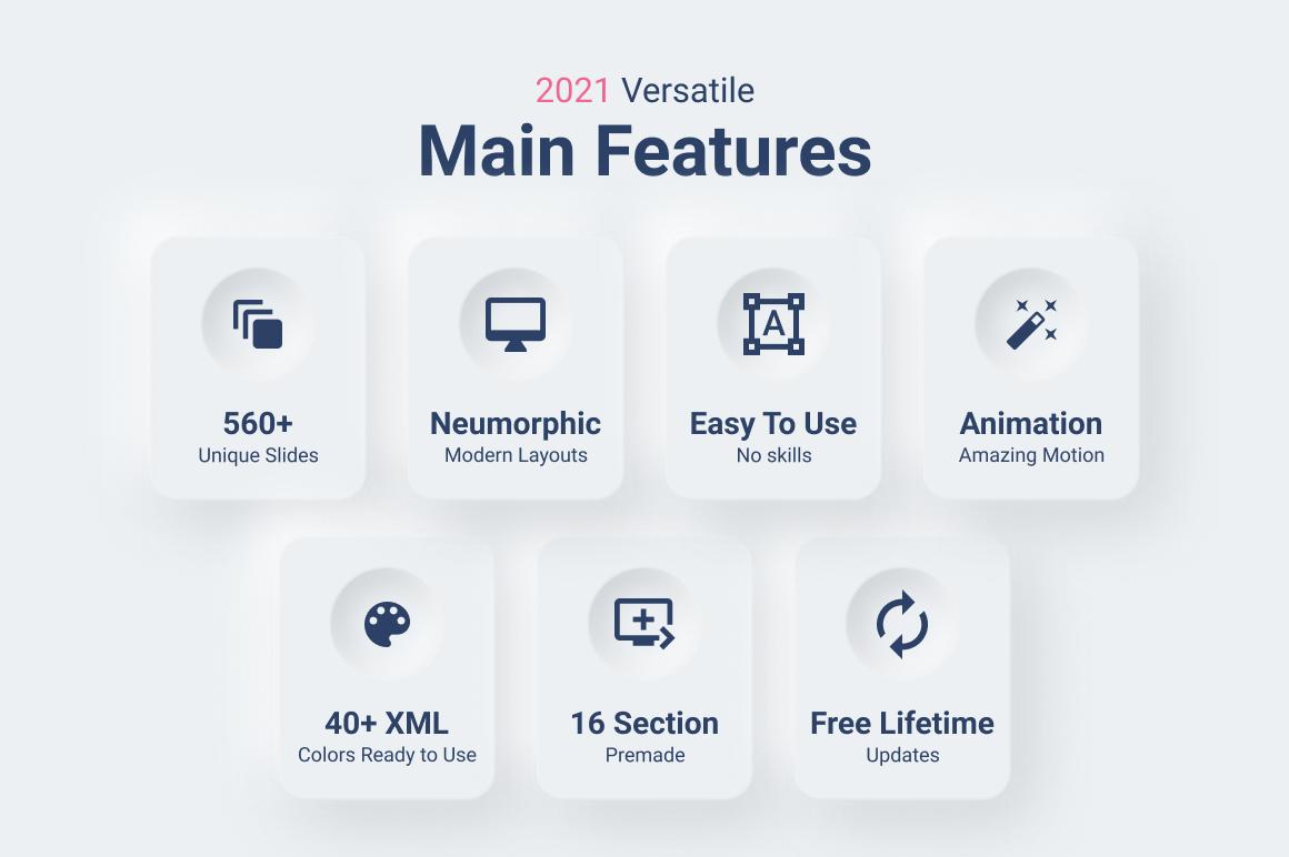 2021 Neumorphic PowerPoint Template