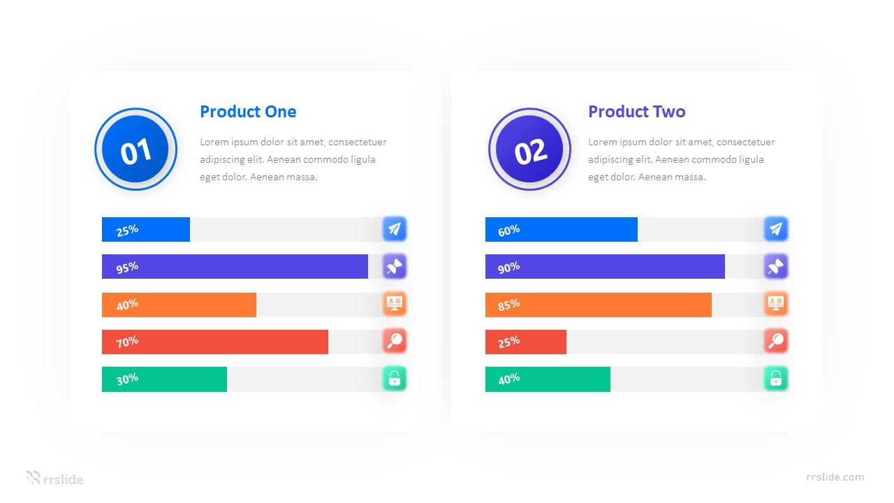 2 Columns Comparison Bar Chart Infograpic Template