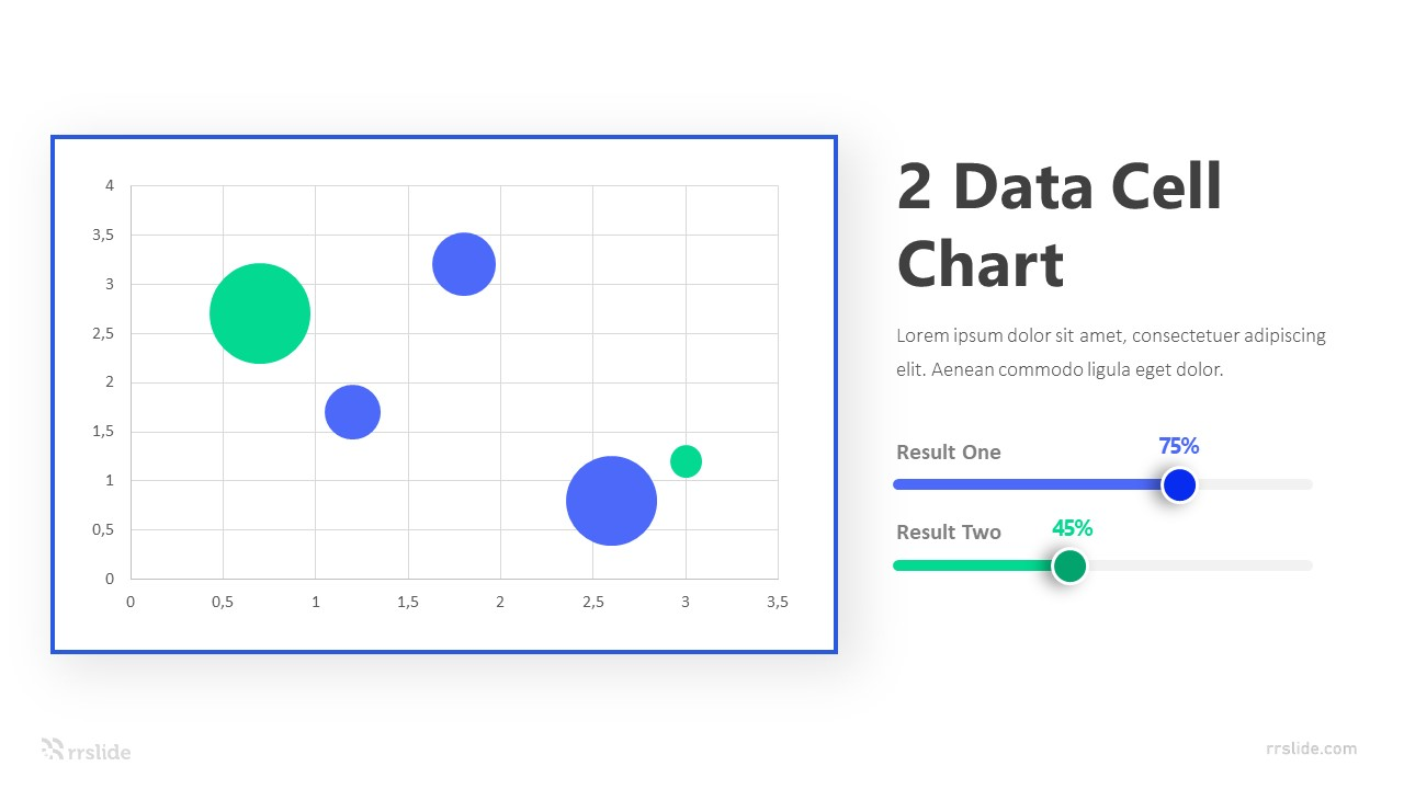 2 Data Cell Chart Infographic Template