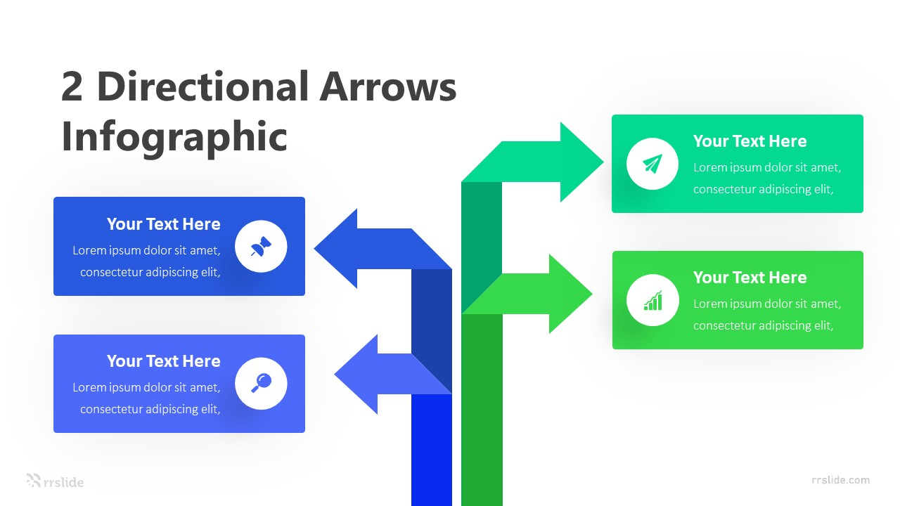 2 Directional Arrows Infographic Template