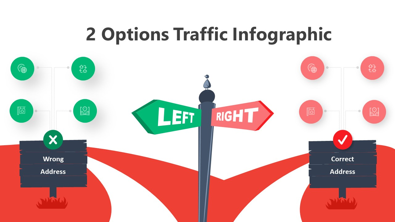 2 Options Traffic Infographic Template