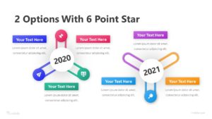 2 Options with 6 Point Star Infographic Template