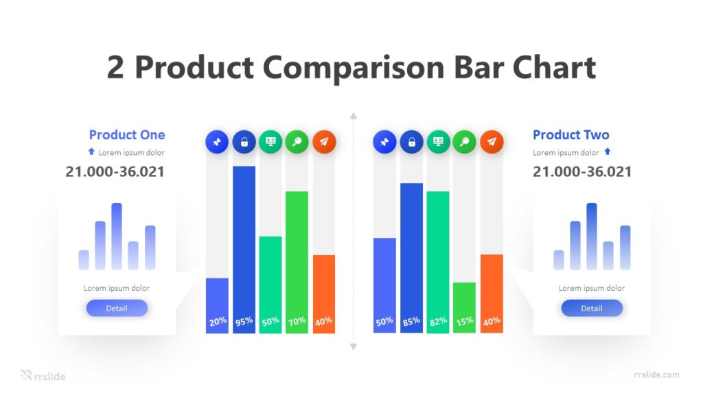 2 Product Comparison Bar Chart Infographic Template