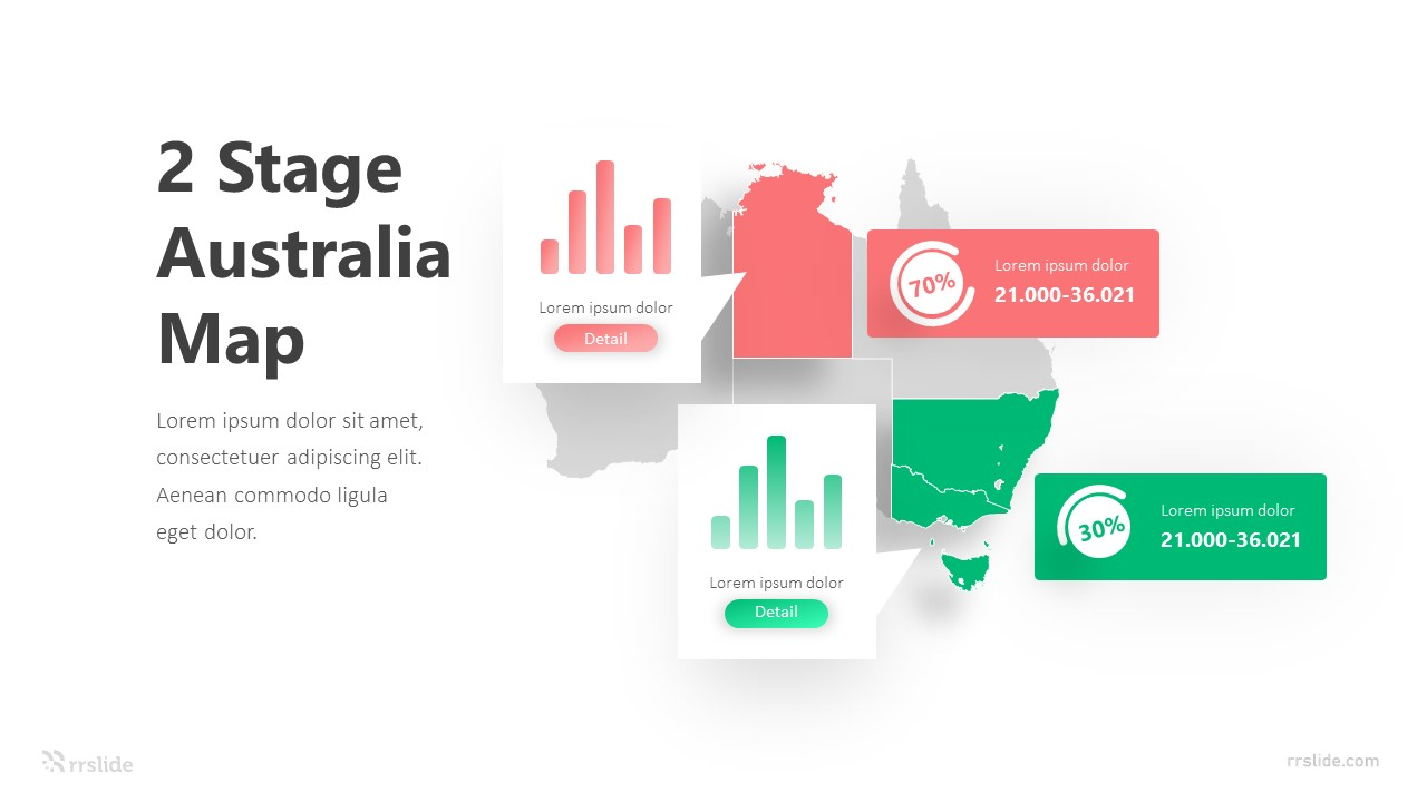 2 Stage Australia Map Infographic Template