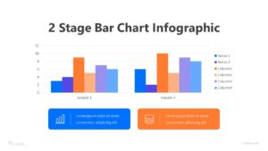 2 Stage Bar Chart Infographic Template