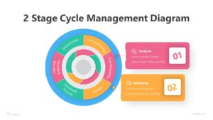 2 Stage Cycle Management Diagram Infographic Template
