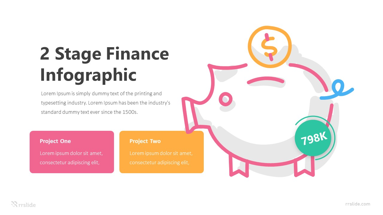 2 Stage Finance Infographic Template