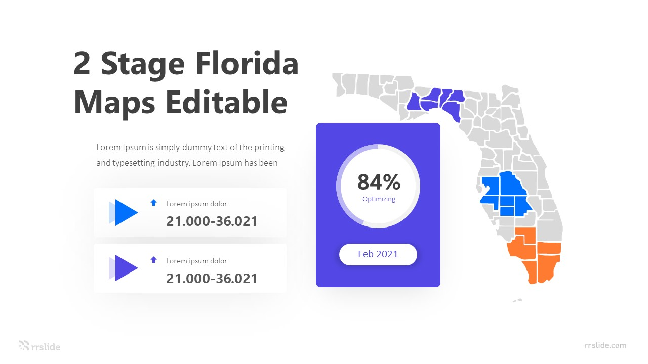 2 Stage Florida Editable Infographic Template
